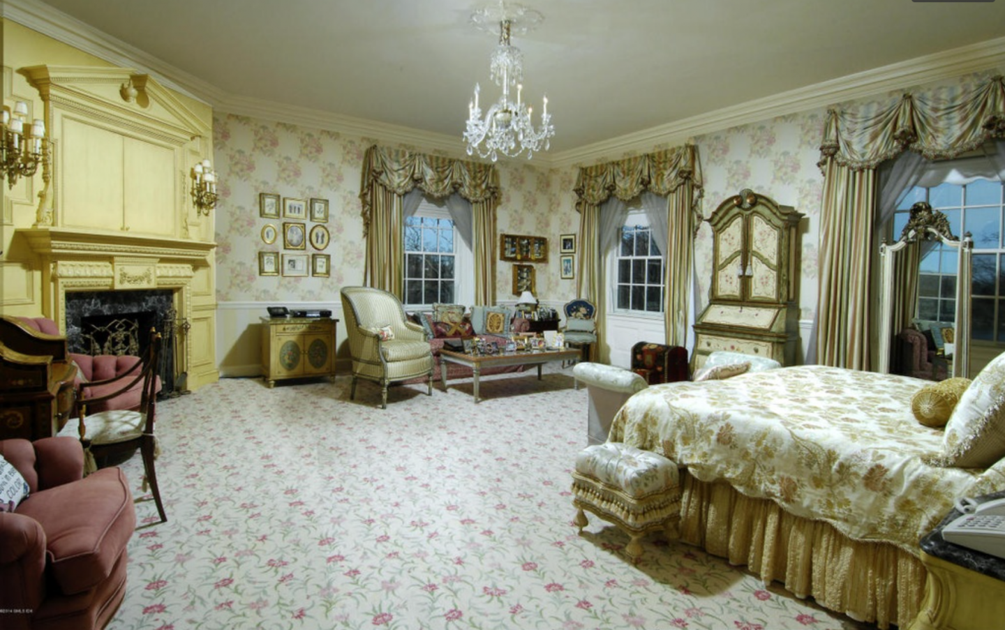 Some rooms present a garish Marie Antoinette-ish vibe.