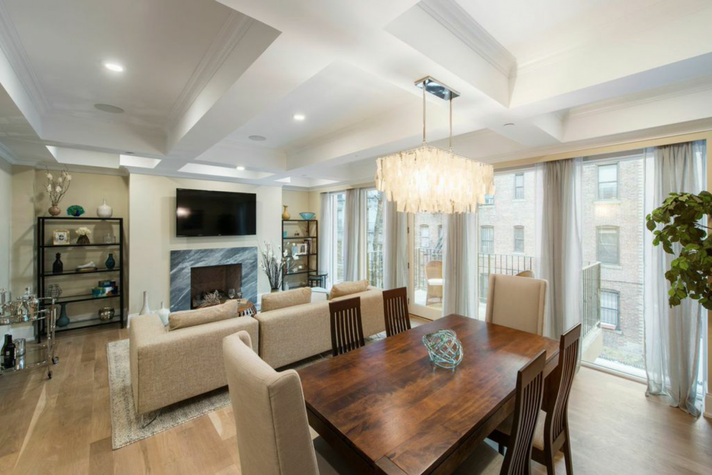 Residence Two at The Justin is a three-bedroom full-floor condo for roughly $3.3 million.