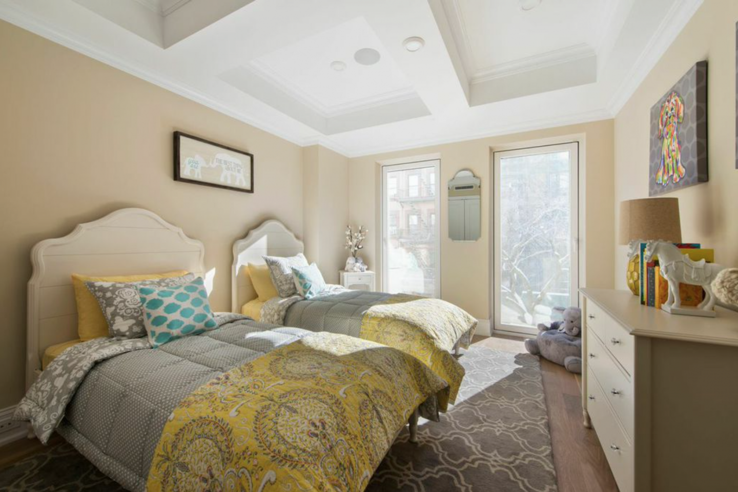 The Residence Two master suite with oversized windows