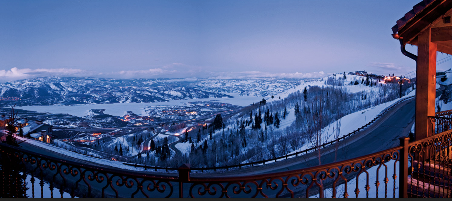 Located within Deer Crest Estates, an exclusive gated community, Villa Casa Nova overlooks more than 600 acres of land in Park City.