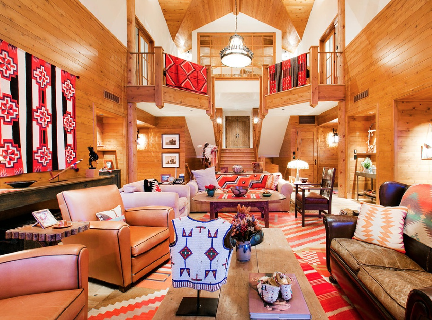 Renowned interior designer, the late Naomi Leff, utilized Native American themes to give this home its perfectly unique character.