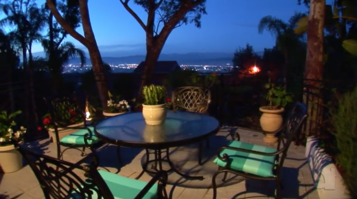 Patio with view of Los Angeles