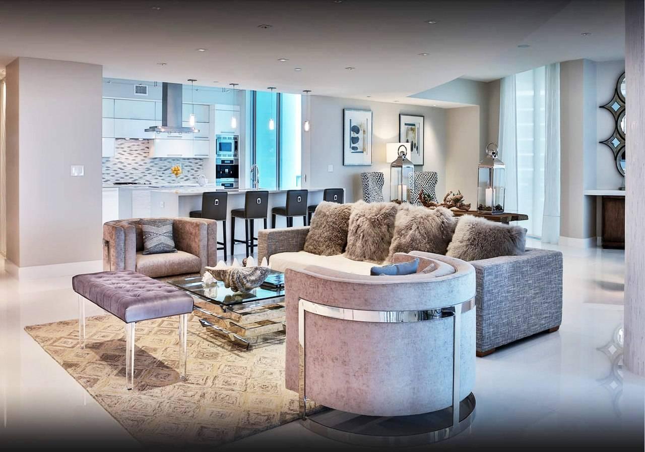 900 Biscayne Bay Penthouse Unit 6307 Living Room