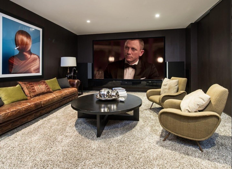 James Bond Alpha male media room