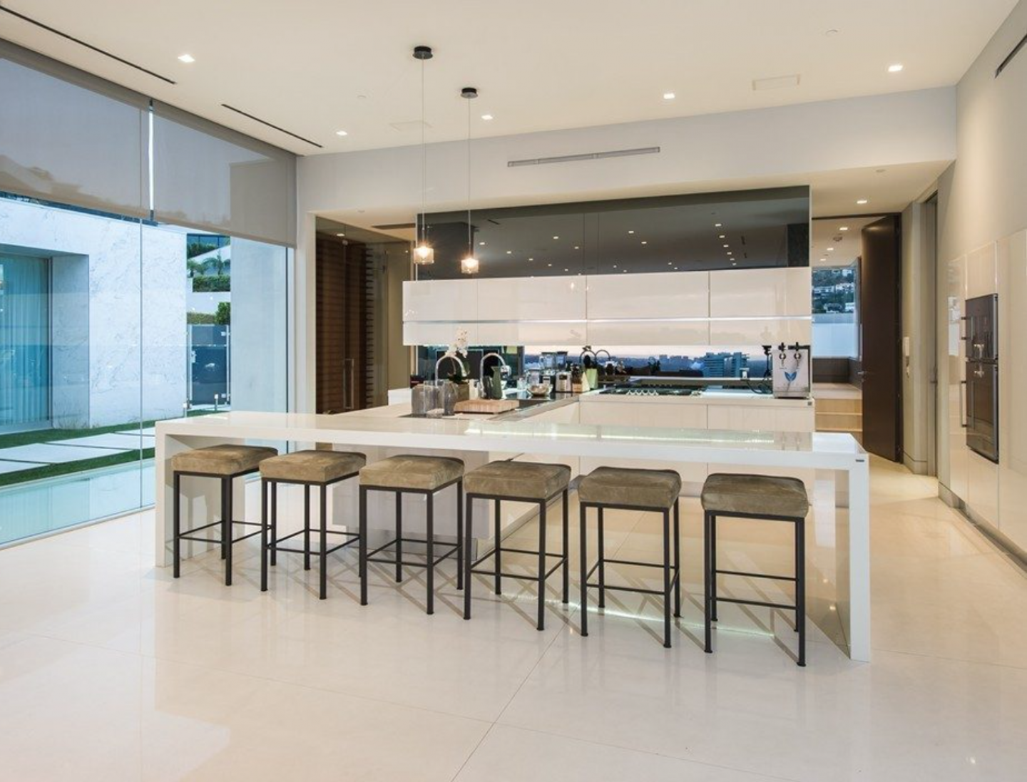 The home's open spaces are ideal for entertaining