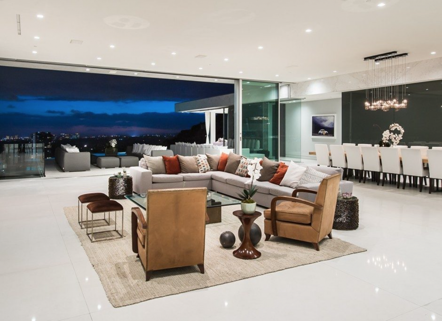 The home opens up to allow breezy night air to flow through the house.
