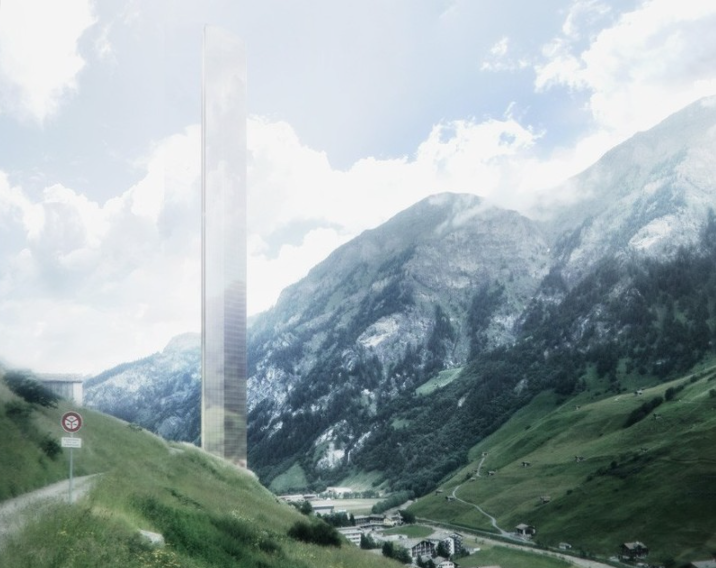 The 7132 Hotel is a controversial 1,250-foot resort skyscraper that dominates the surrounding Swiss Alps village of Vals, and obstructs some mountain views.