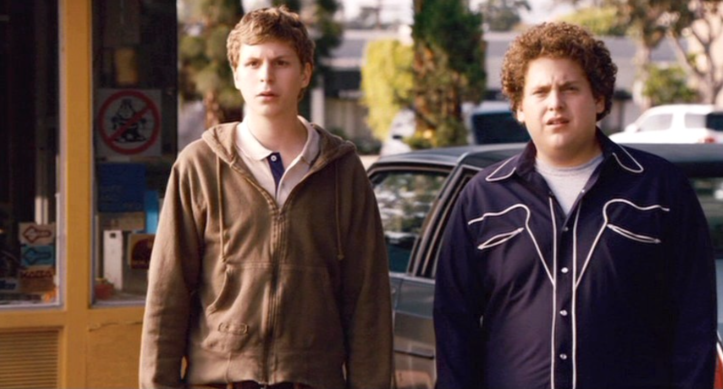 Jonah Hill's breakout performance was as Seth, a frustrated teenager who wore a shirt that was as uncomfortably bad as his attitude.