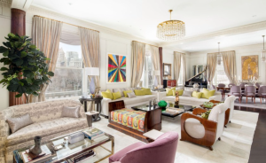 The 4,000-square-foot apartment offers 4 bedrooms, 13-foot ceilings and great views of Central Park.