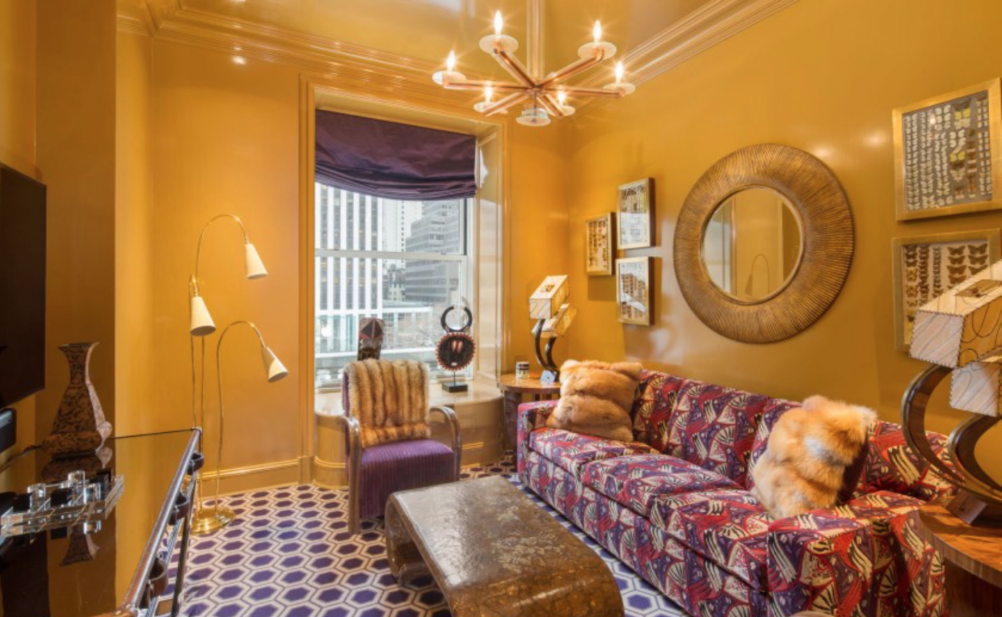 Wright's suite was renovated in 2011 by Louis Lisboa of VL Architects and interior designer Susanna Maggard.