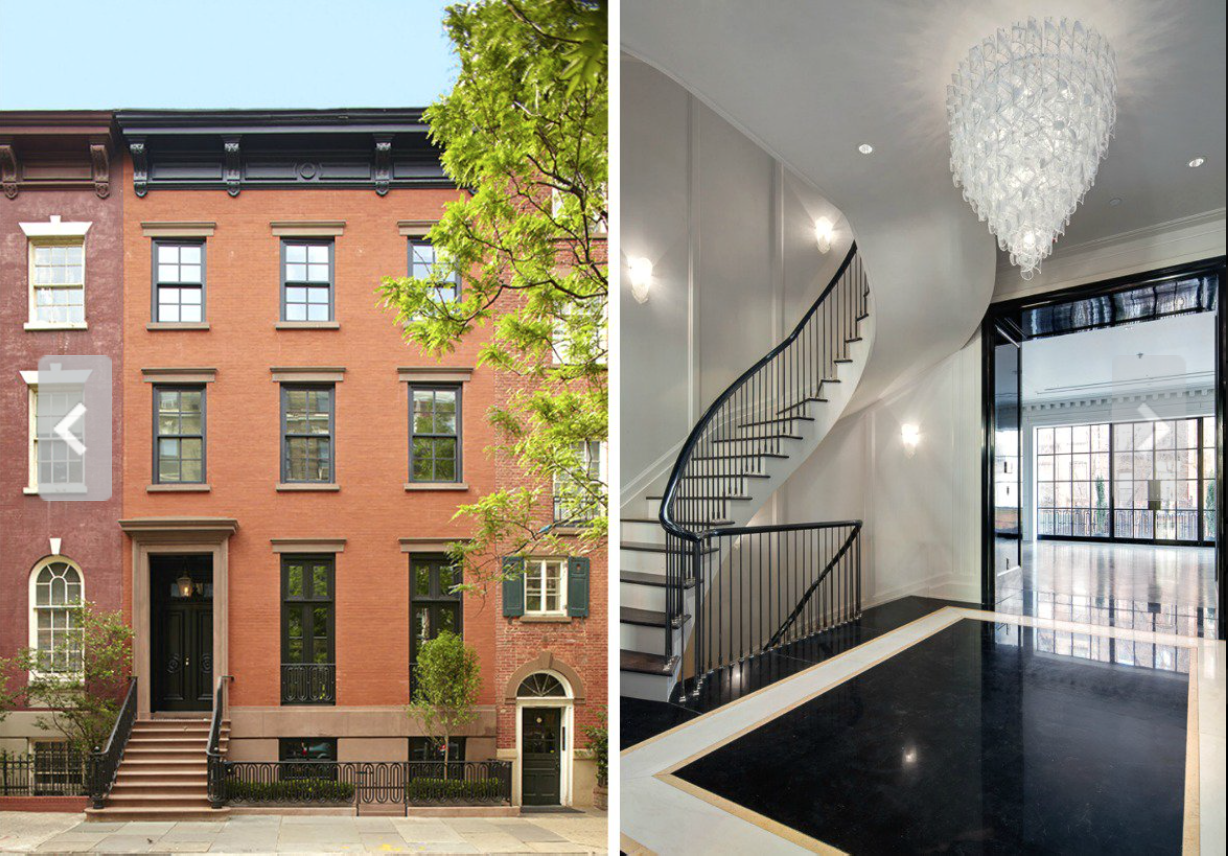 Murdoch's new Greek Revival mansion in the West Village, which cost him a hip $25 million.