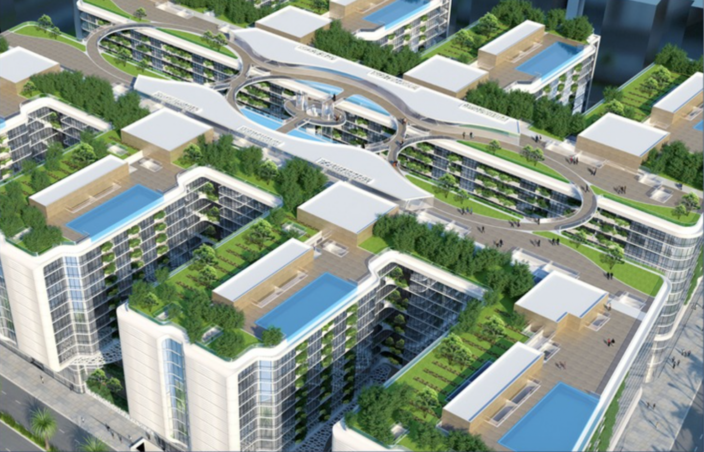 The Gate will be connected ecosystem of luxurious residential, commercial, five-star hotel, and retail spaces that are vertical and sustainable.