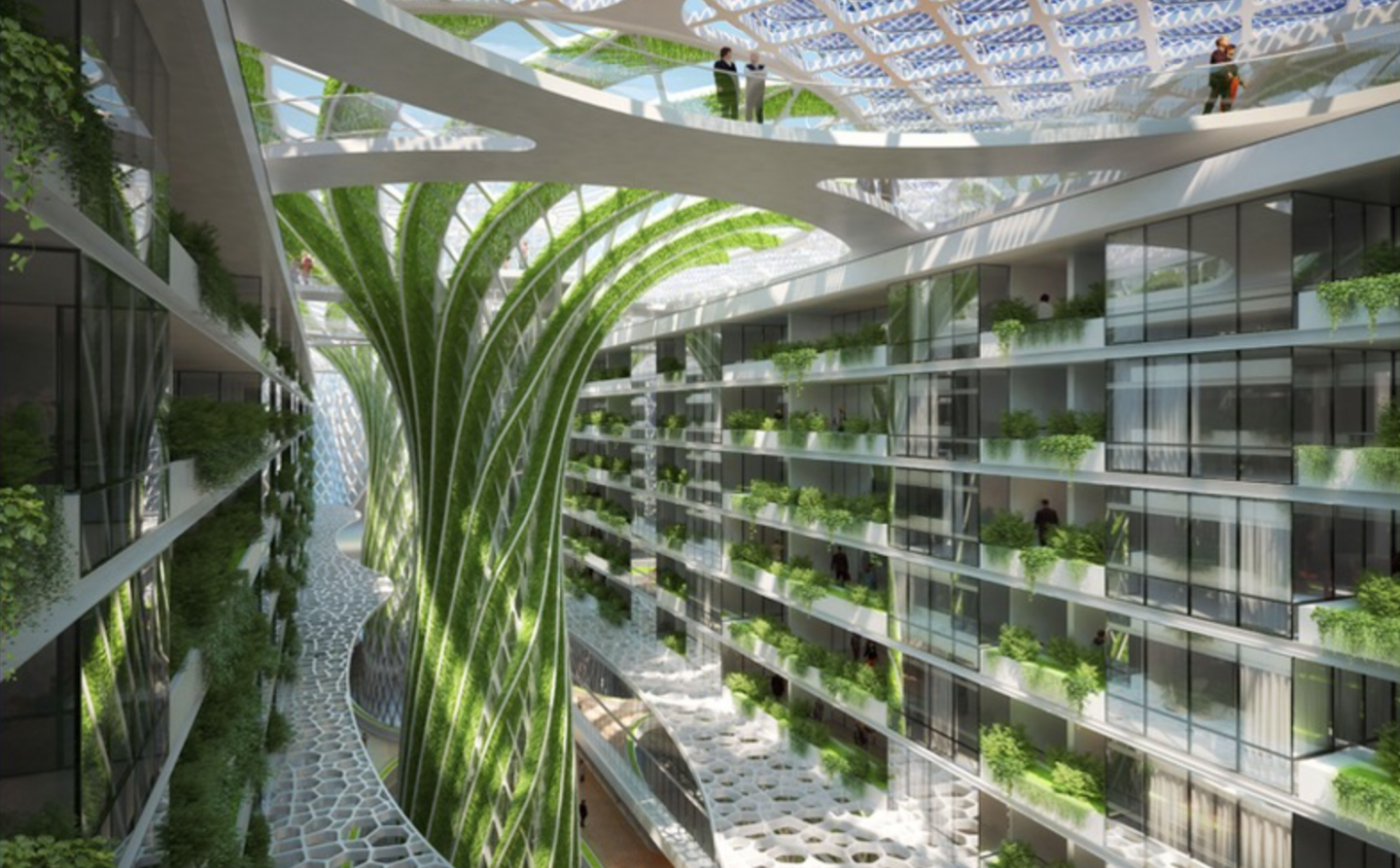 About 1000 apartments will benefit from the green technology which will save 50% on energy costs.