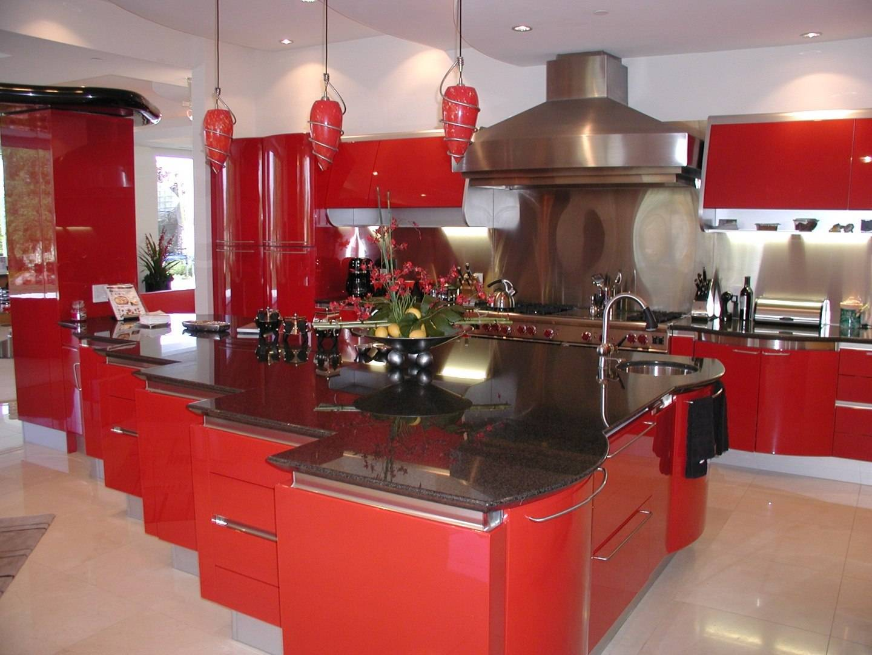 The Ferrari Red Kitchen Mansion