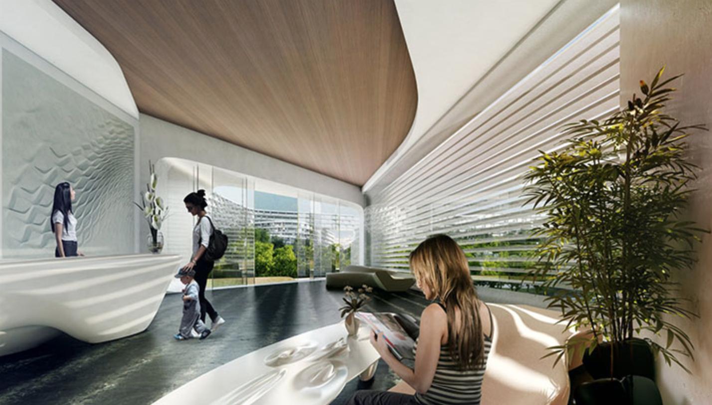 Modern interiors at Esfera City Center