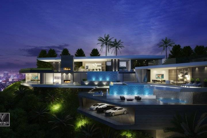 Luxury property los angeles home design for Home designers los angeles