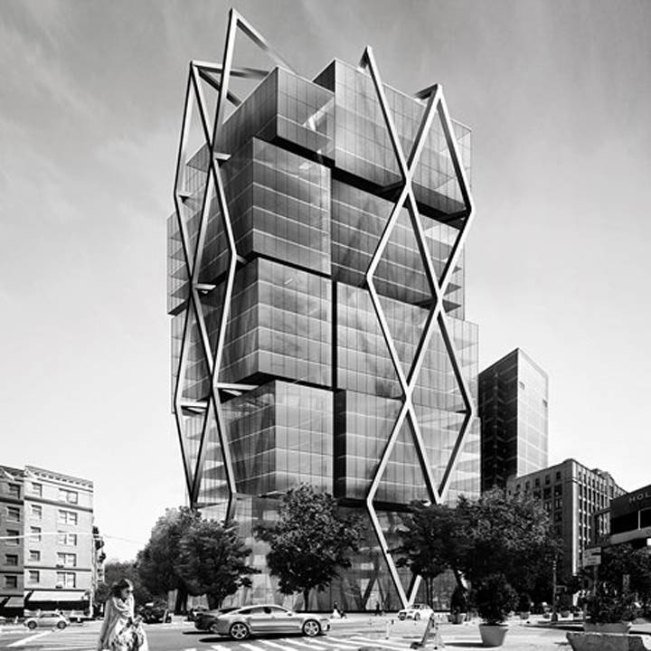 Steel Frame Towers : Dror benshetrit presents geometric residential tower