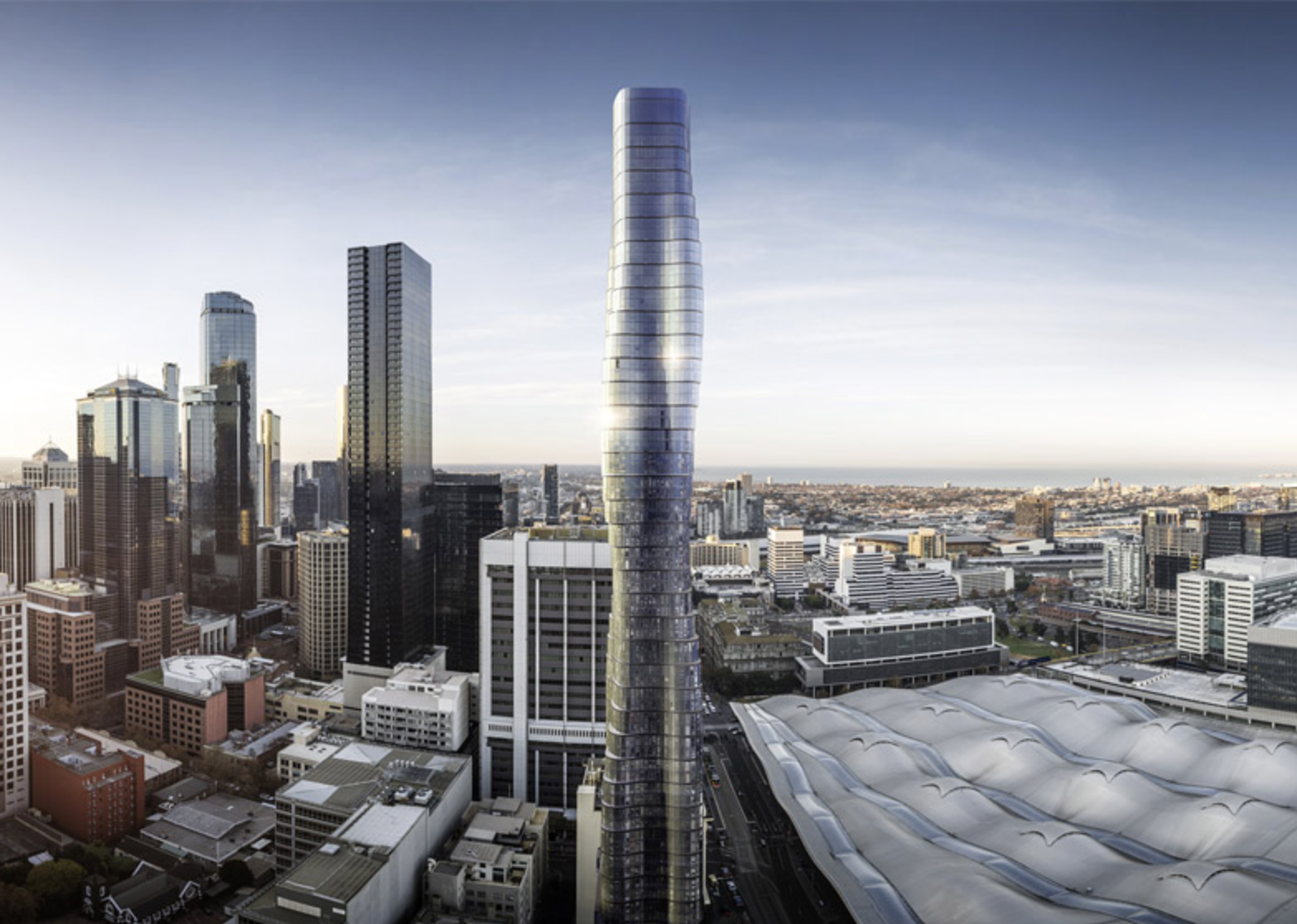 The planned  741-foot Premiere Tower in Melbourne, Australia's second most populated city.