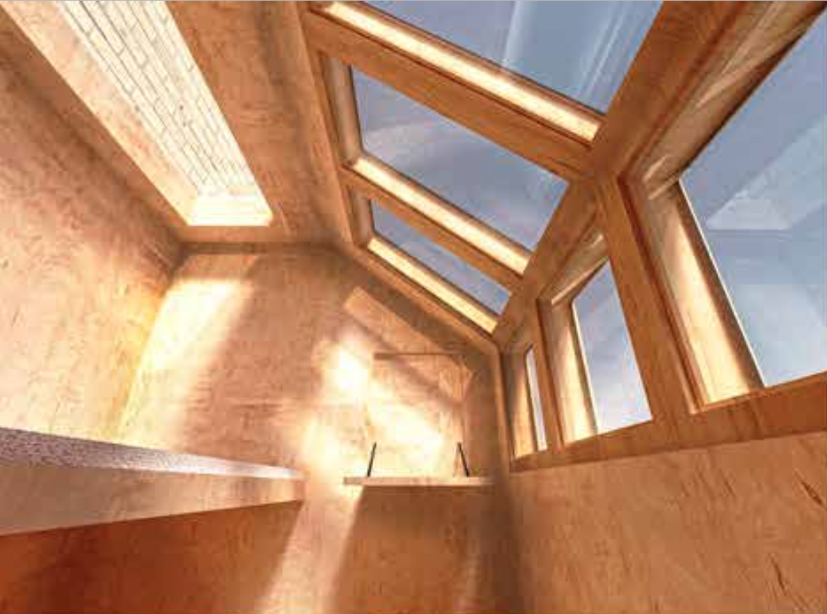 The pods are made of plywood, offering good thermal qualities to keep the unit comfortable.