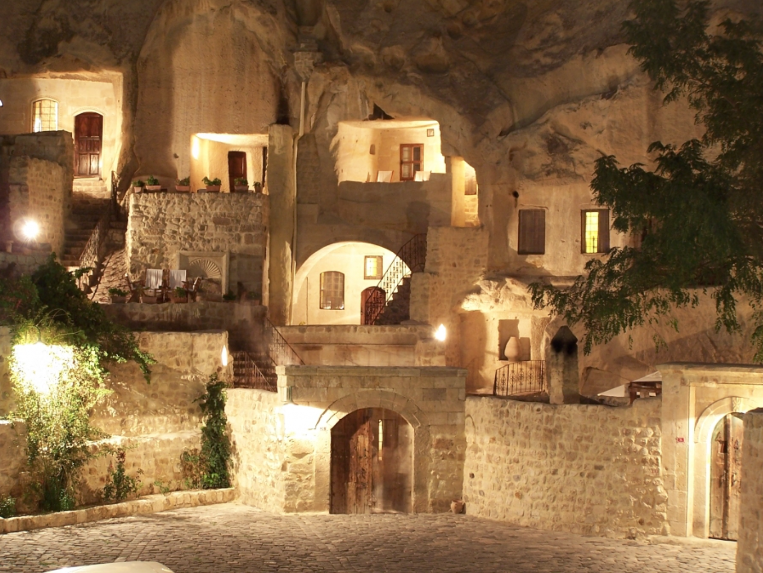 These caves date back to the Middle Ages--the 5th and 6th centuries.