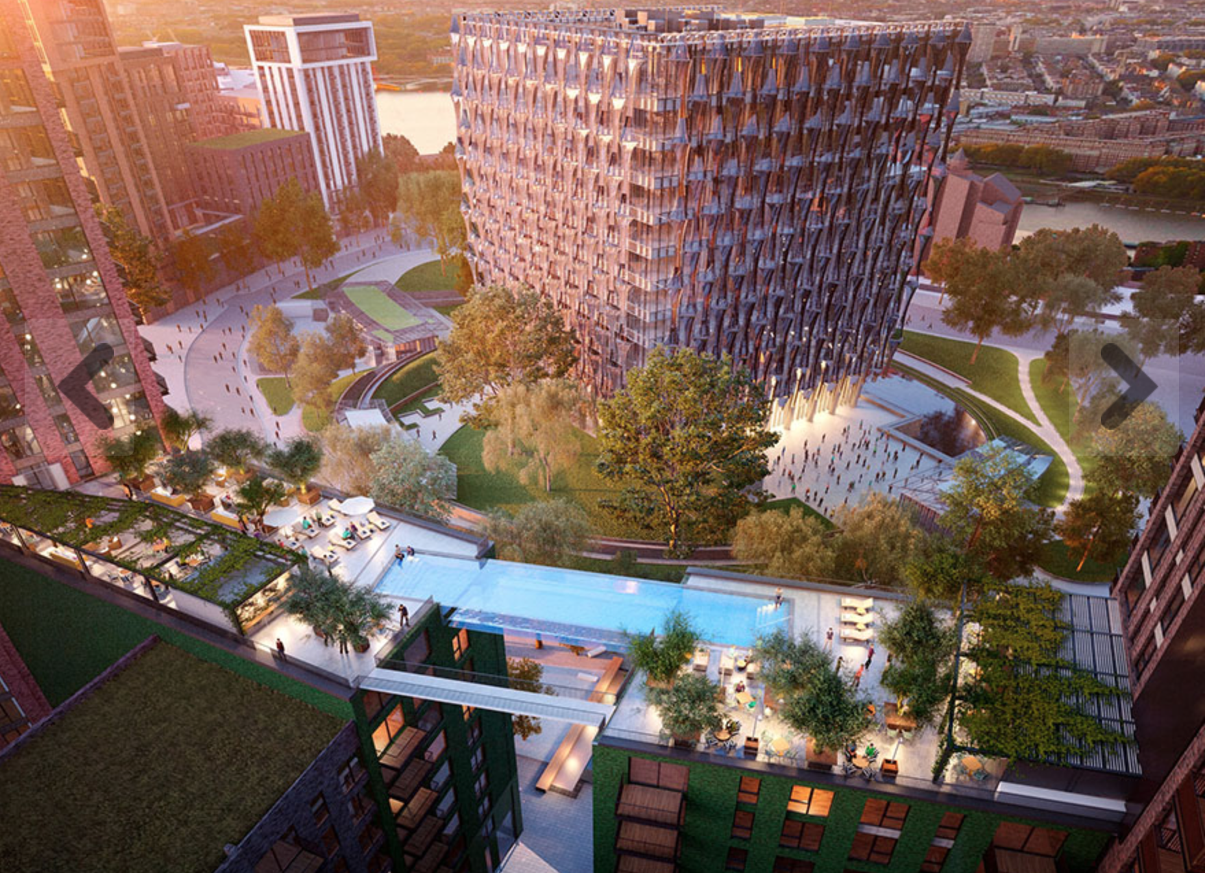 Sky Pool will serve as a tourist attraction after Embassy Gardens is completed in 2018.