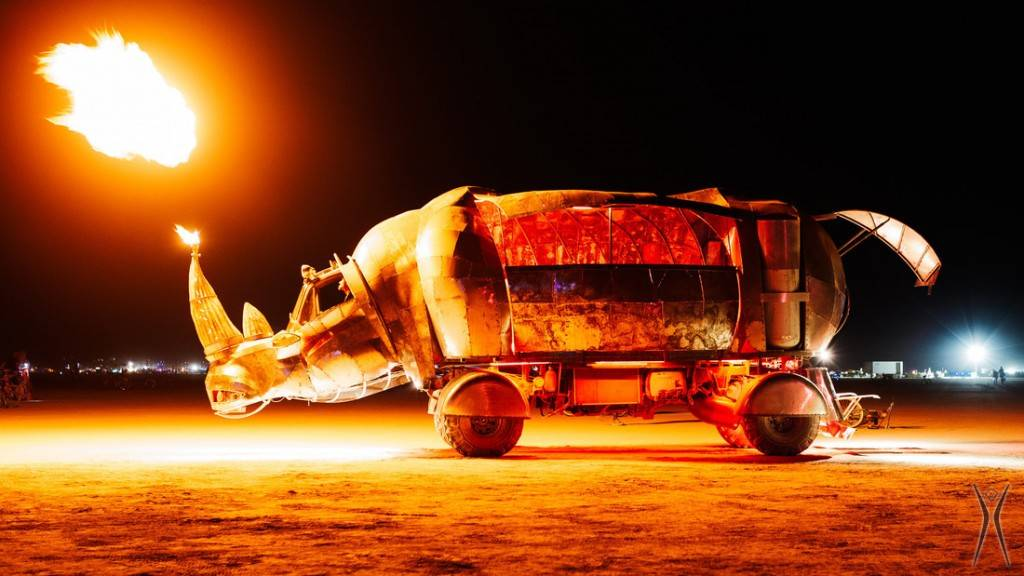 Pyro Rhino, Burning Man