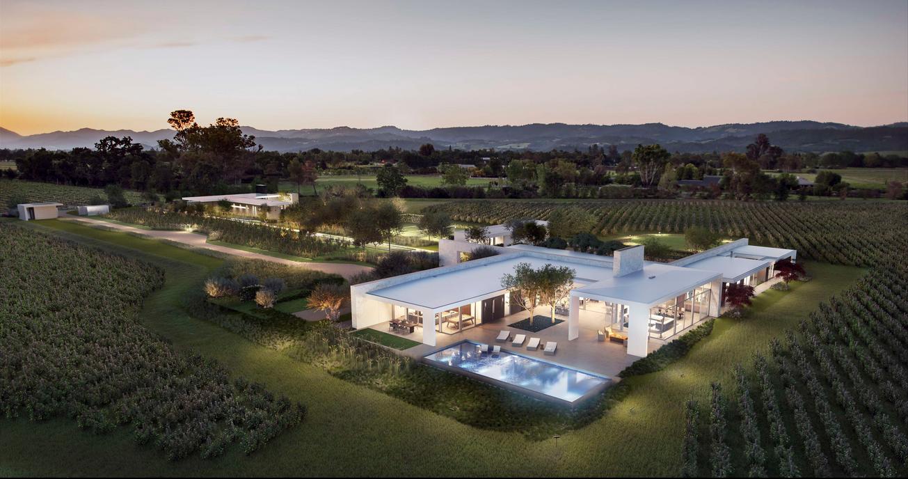 1 Minimalist-Modern Estate in Wine Country