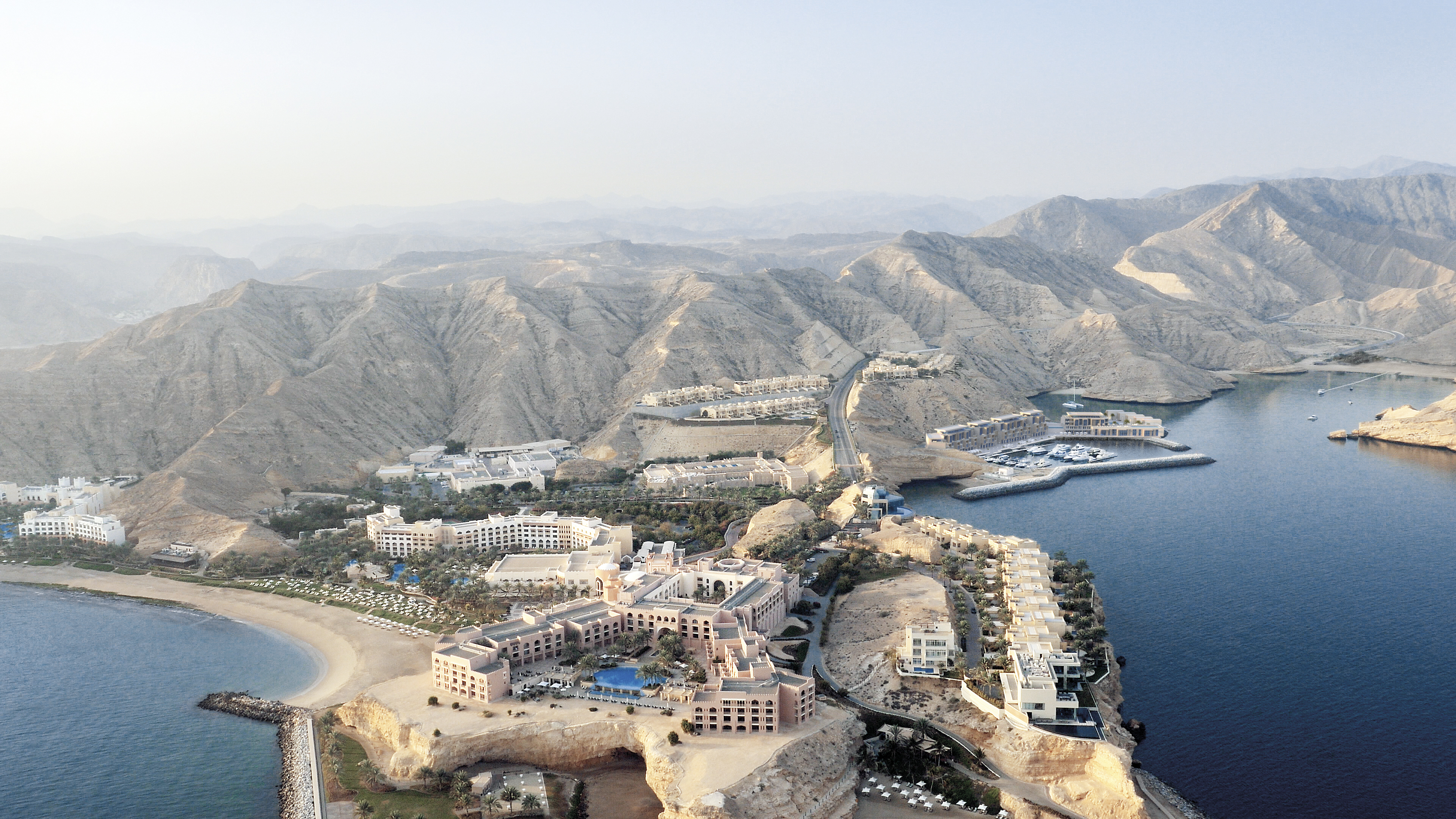 Barr Al Jissah is located on the north east coast of Oman