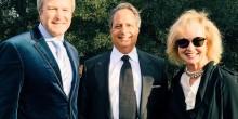 Nicole Van Parys and Gary Nesen enjoy the festivities with comedian, Sherwood member, and friend Jon Lovitz