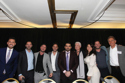 Pictured: (from left to right) Josh Altman, Ben Bacal, Aaron Kirman, Matt Altman, Seth Semilof, Joyce Rey, Rayni Williams, Branden Williams, and Randy Solakian