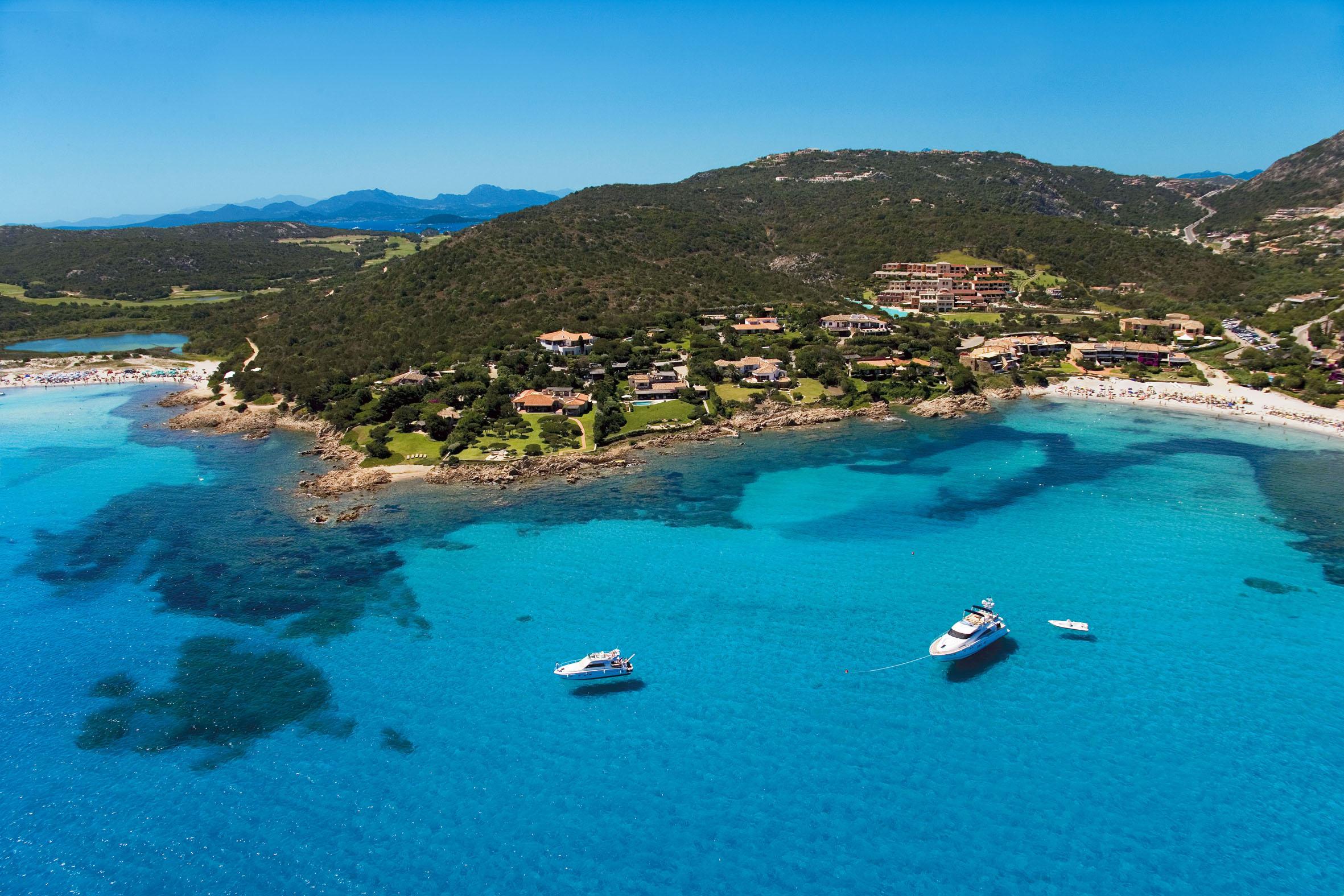 The village of Porto Cervo is located along Sardinia's Emerald Coast