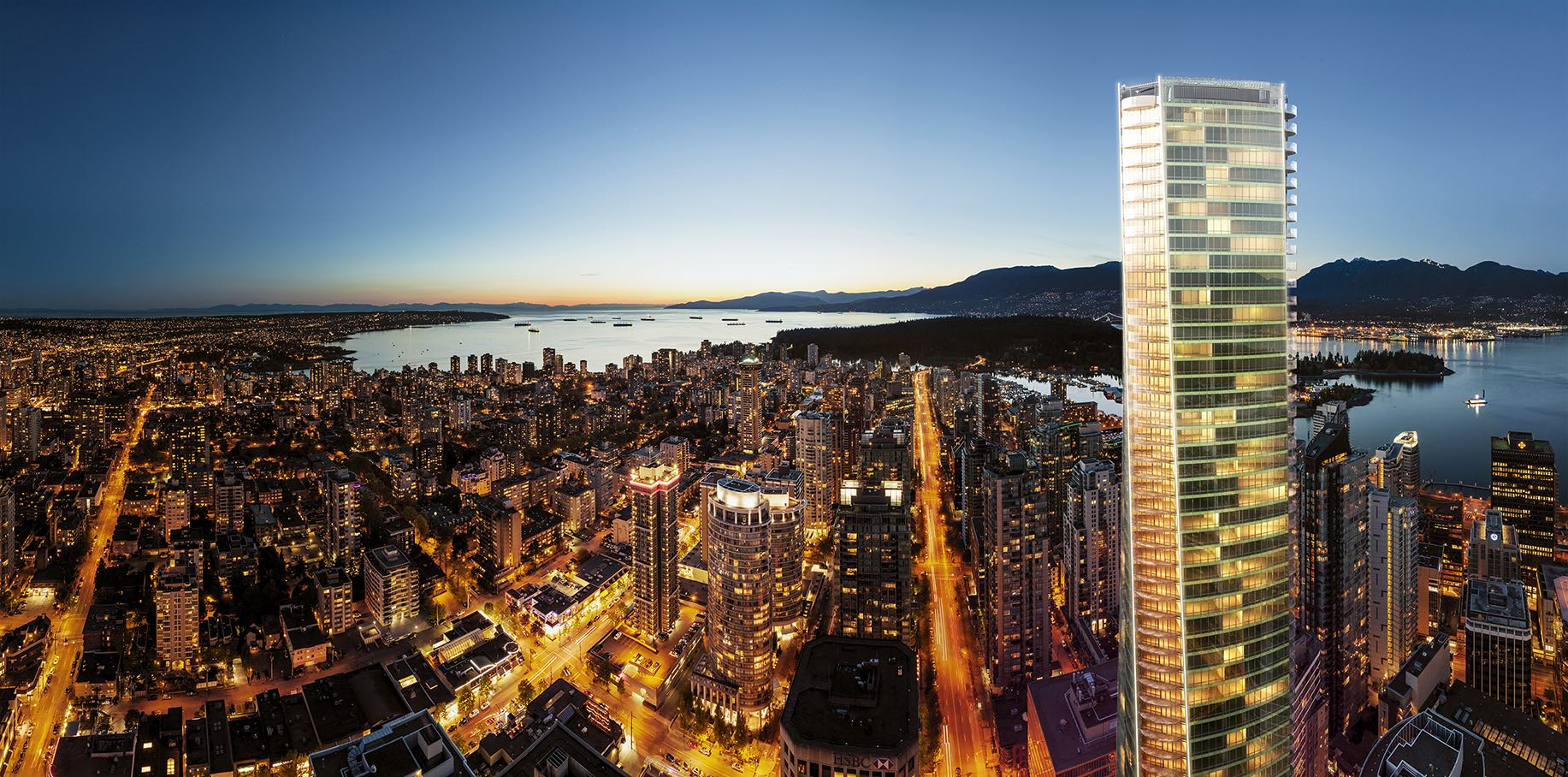 The Trump International Hotel and Tower Vancouver is the city's second tallest at 616 feet
