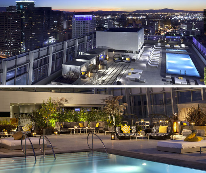 The rooftop pool at the Ritz-Carlton at L.A. LIVE