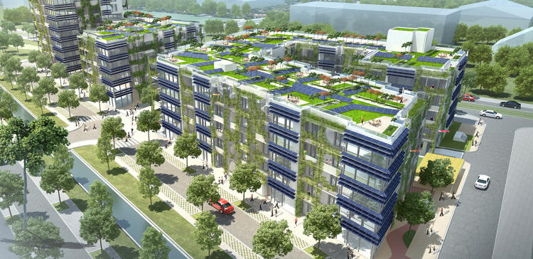 Sustainable Housing Design the world's largest sustainable housing complex is being built in
