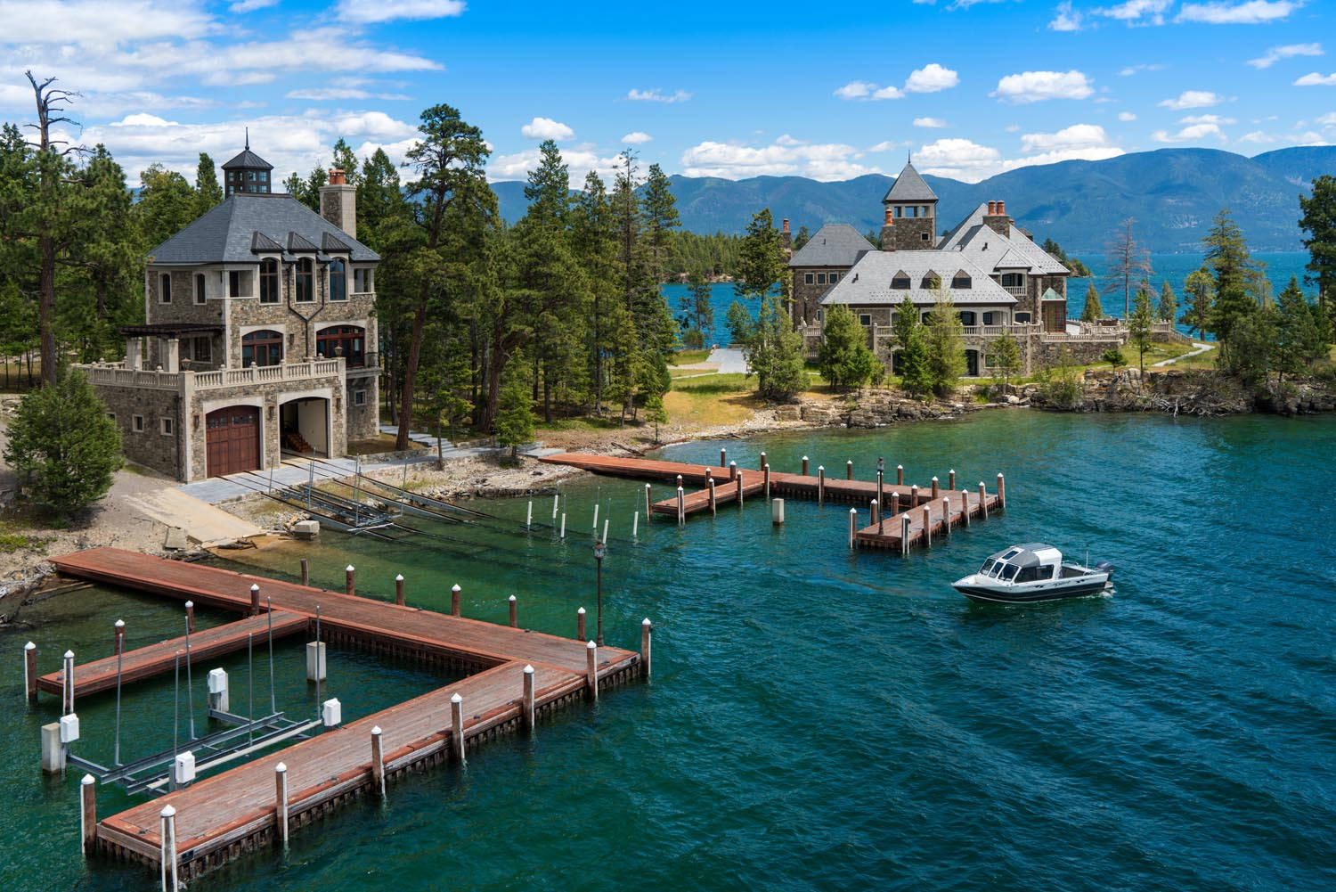 flathead lake island mansion - photo #12