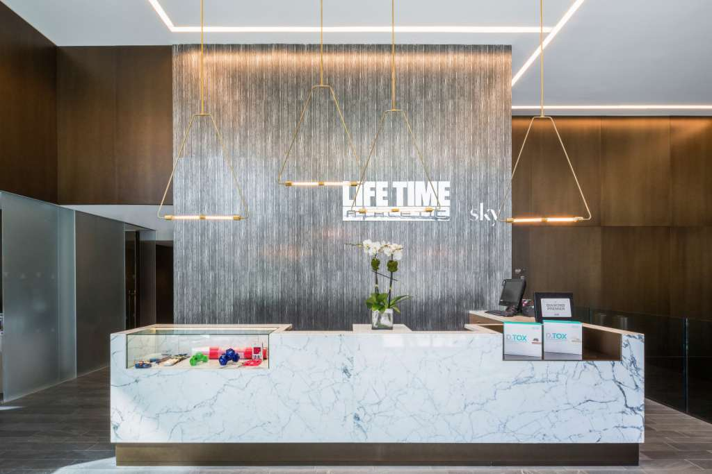 The residences' buzziest, most-prized amenity is Life Time Athletic at Sky, New York City's first Life Time Fitness location