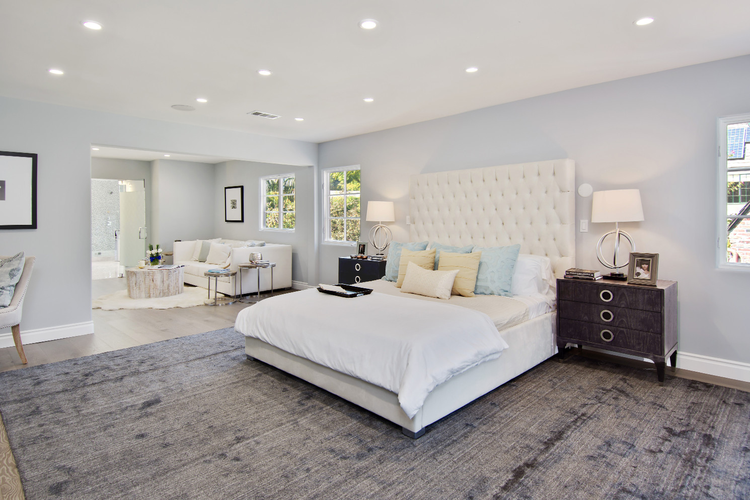 haute residence sophisticated beverly hills spanish style home two additional en suite bedrooms are upstairs one with private entrance