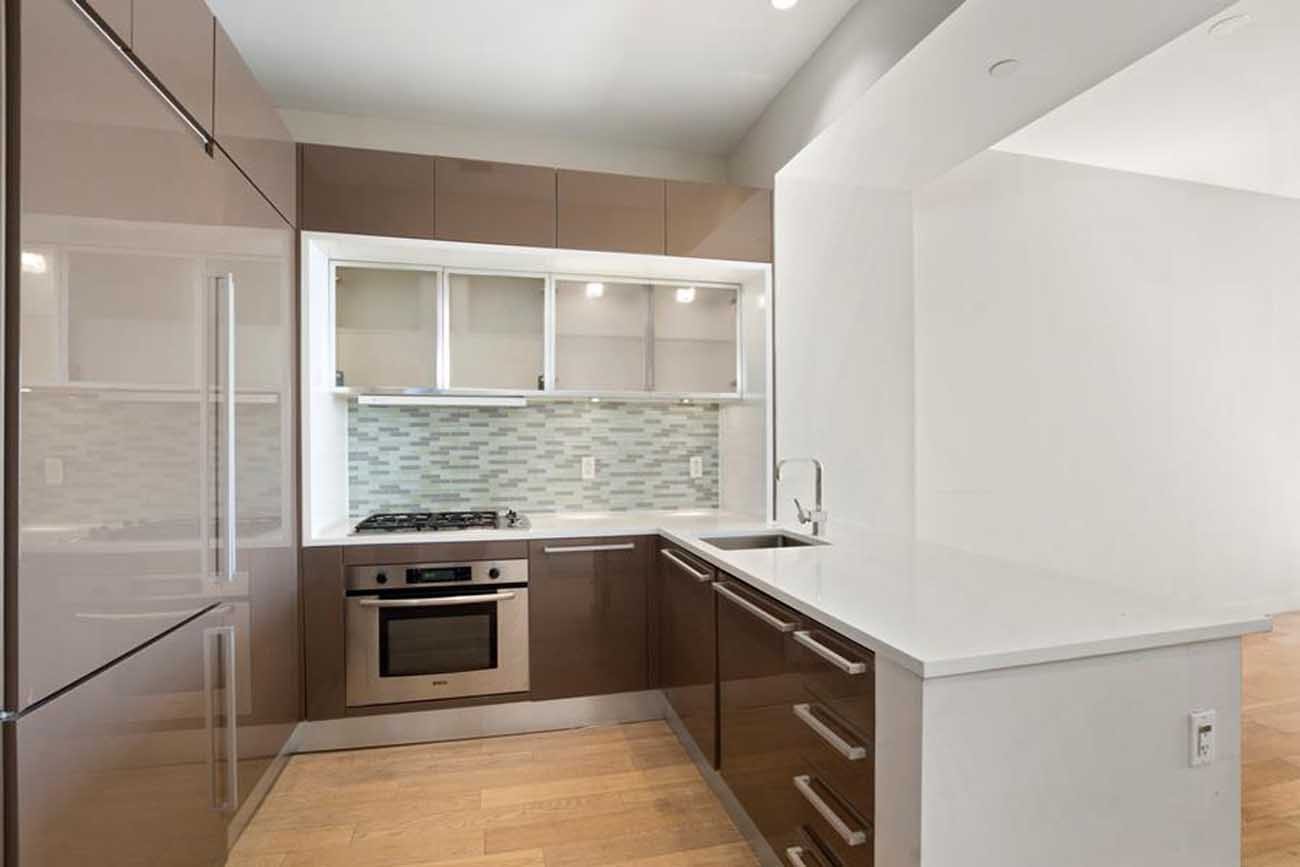 contemporary kitchen office nyc. The Apartment Features A Home Office, One-and-a-half Bathrooms, And Sleek Open Kitchen Allowing Great Flow While Entertaining. Contemporary Office Nyc