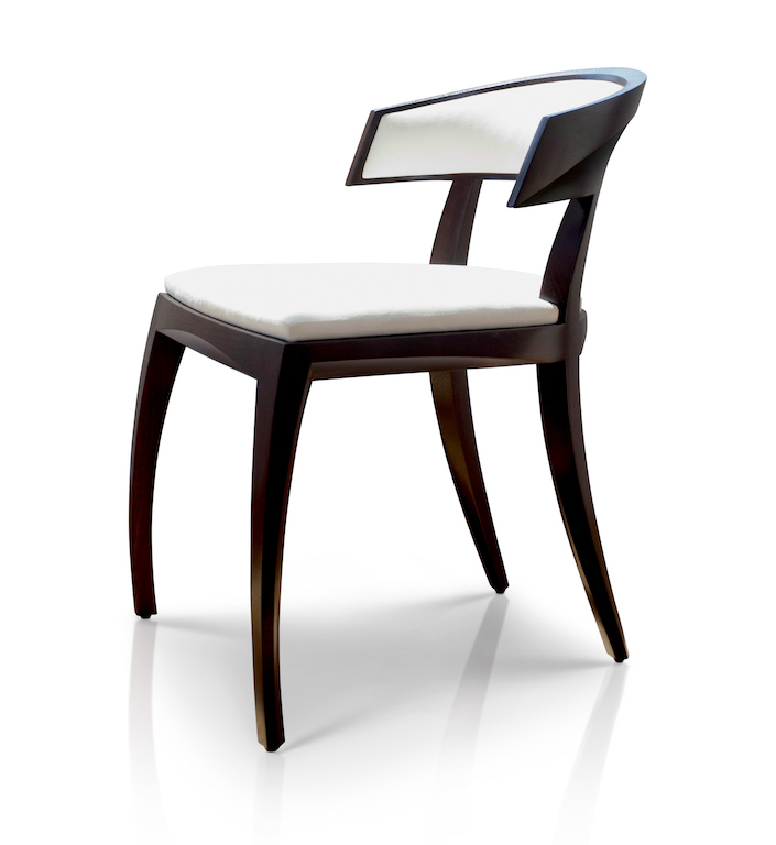 HRAvery Chair - Espresso Walnut White Upholstery  01
