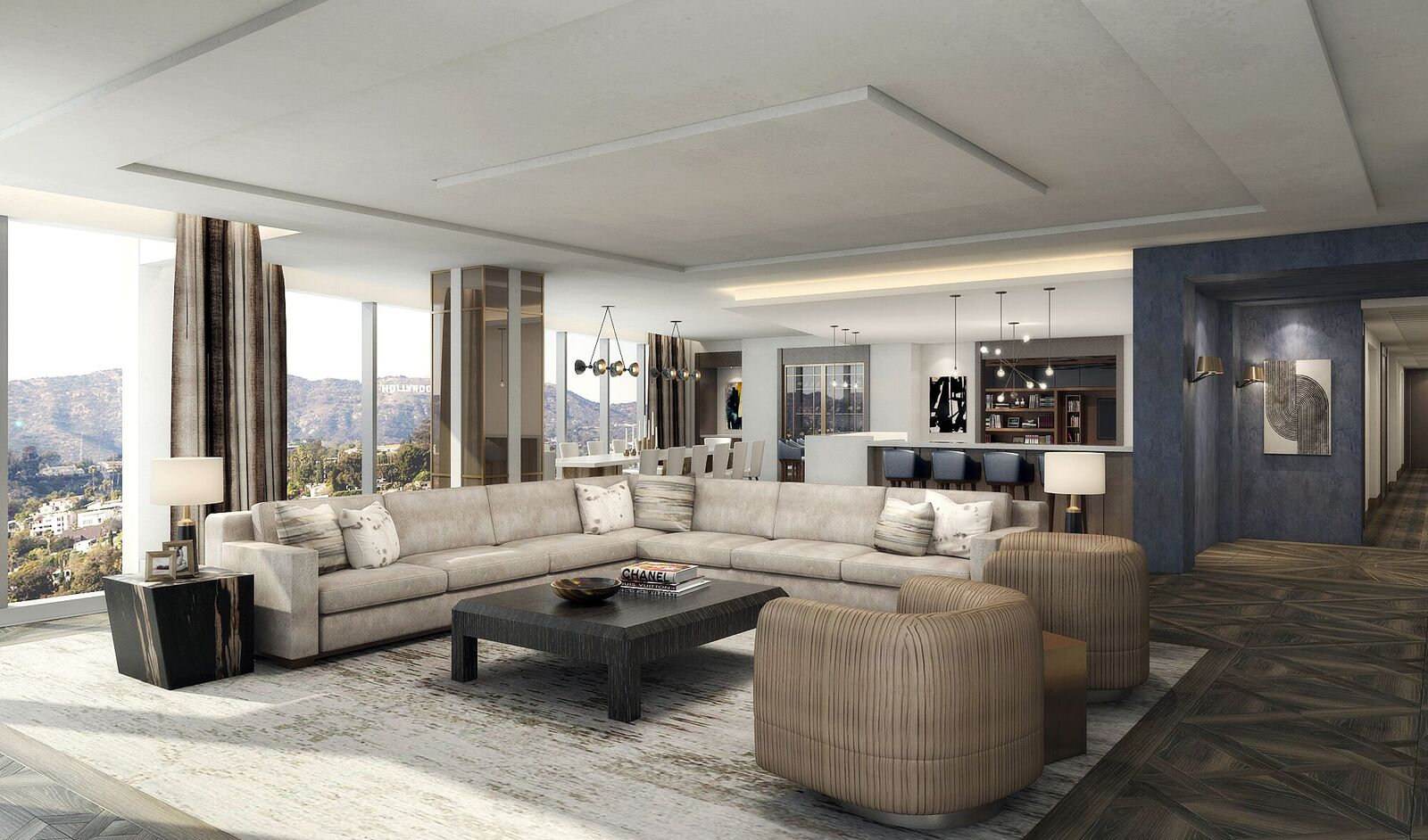 Above the penthouses an exclusive collection at the top of the