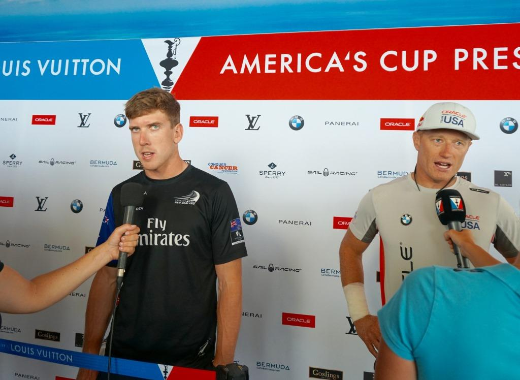 Peter Burling and Jimmy Spithill at post race press conference 1
