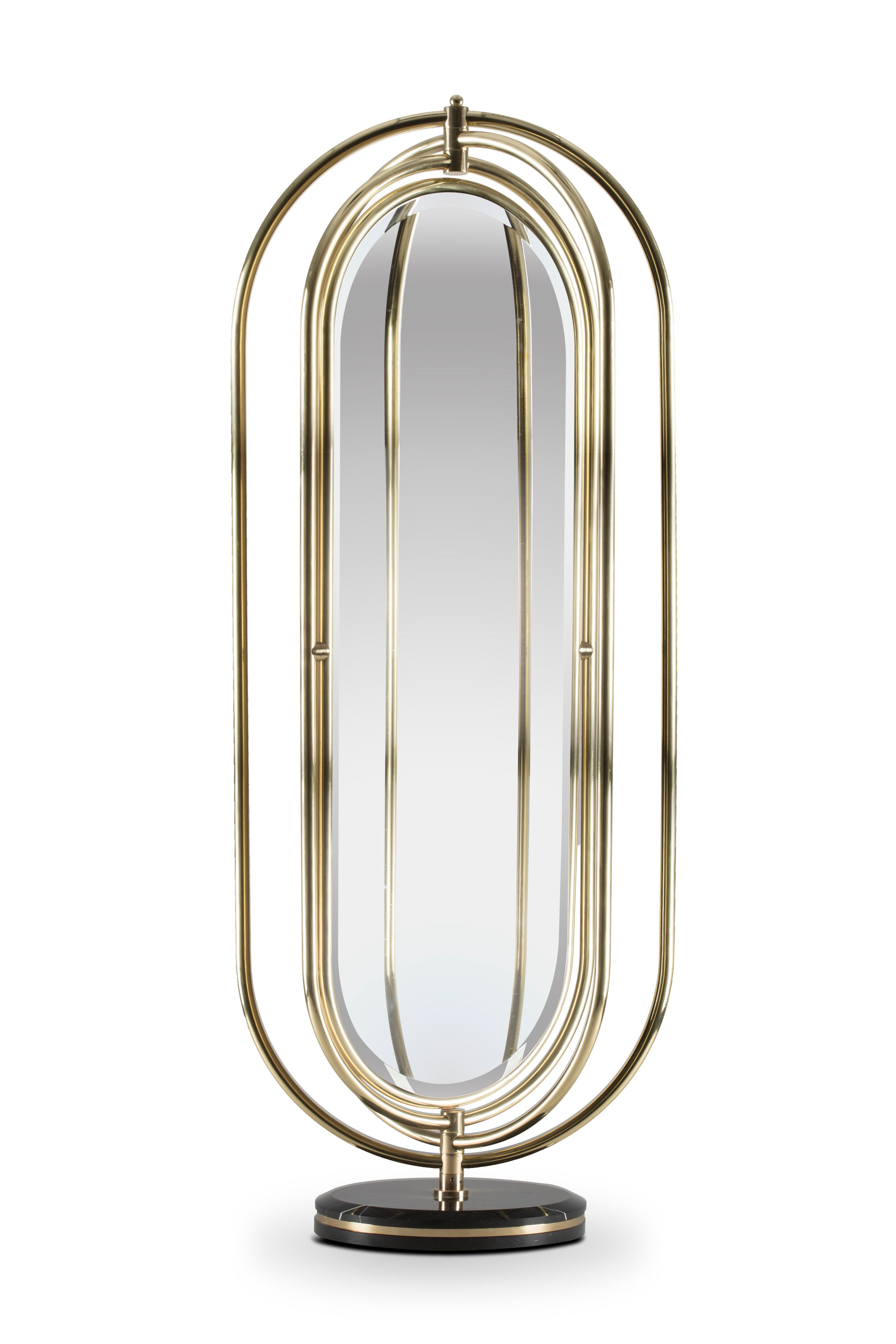 Bathroom mirrors inspired by the flavian amphitheatre the for Bathroom floor mirror