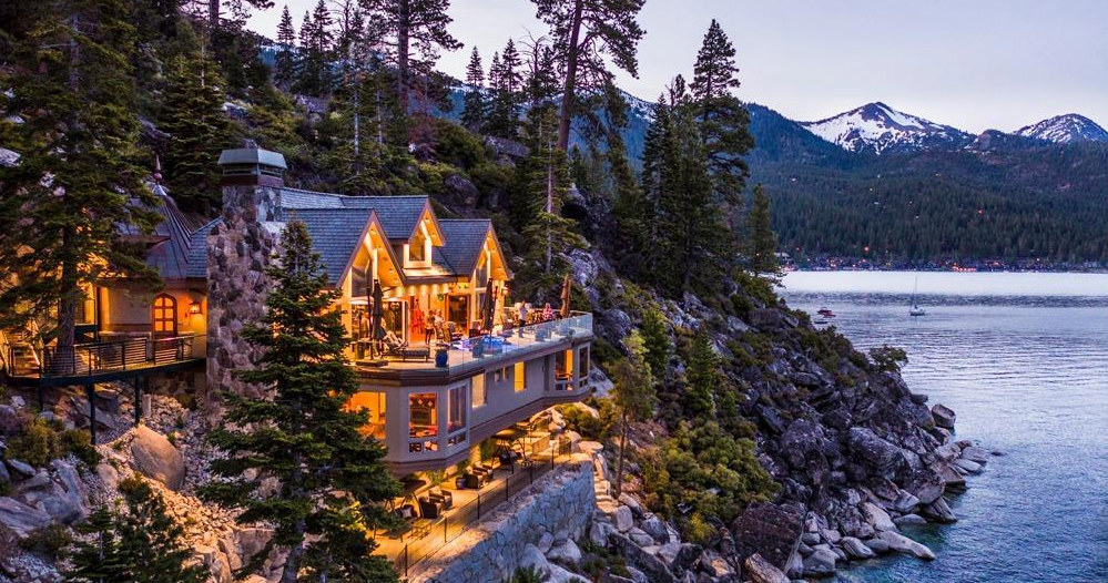 75m Lake Tahoe Waterfront Estate Is Connected By Glass Funiculars