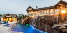 twilight house kitchen waterfall slide firebowls