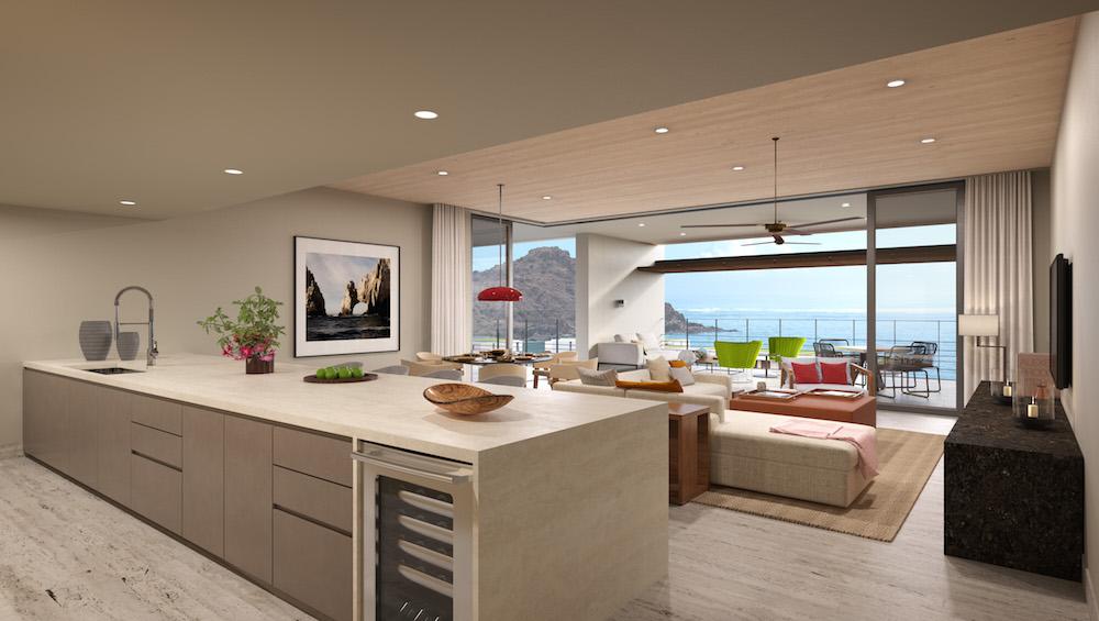 Montage Residences Los Cabos top floor residence rendering