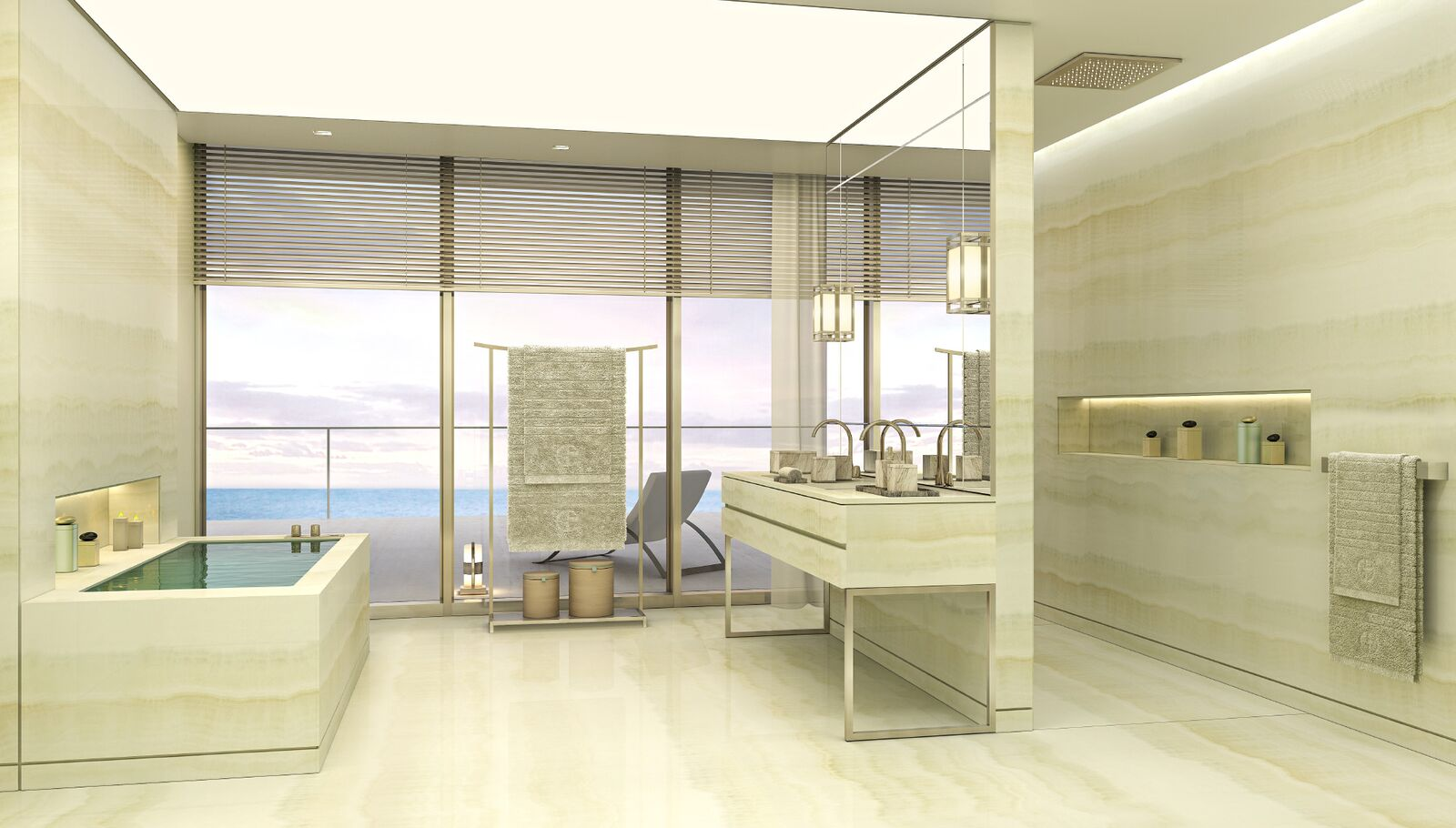 17m high design penthouse designed by giorgio armani for Casa interior design