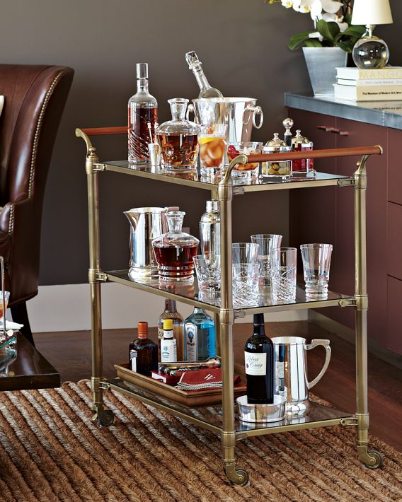 Build The Perfect Home Bar Cart With These Tips
