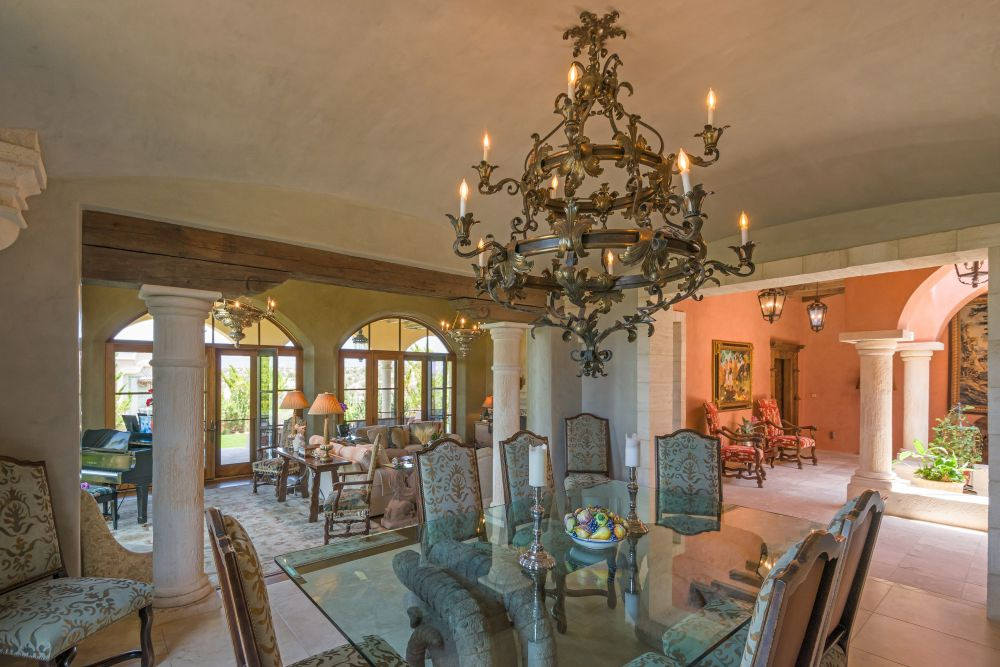 Vast, expansive views are captivating both inside and outside of this magnificent home.
