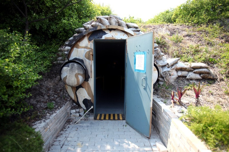 Entrance to the bunker (Photo credit: Gary Coronado PB Post)