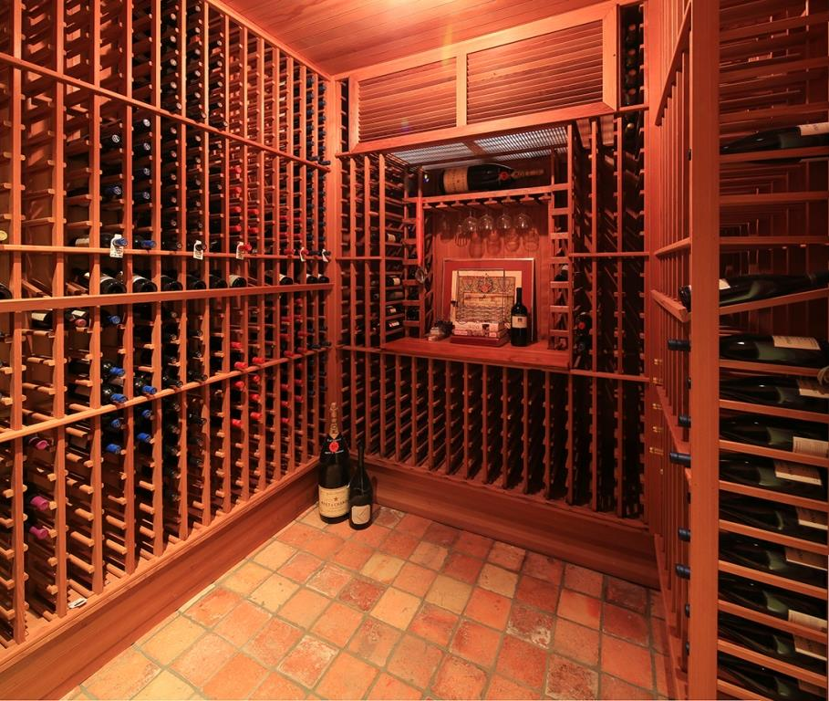 The wine cellar at 11222 Chalon Road, Los Angeles, CA 90049 (Image courtesy of Joyce Rey)